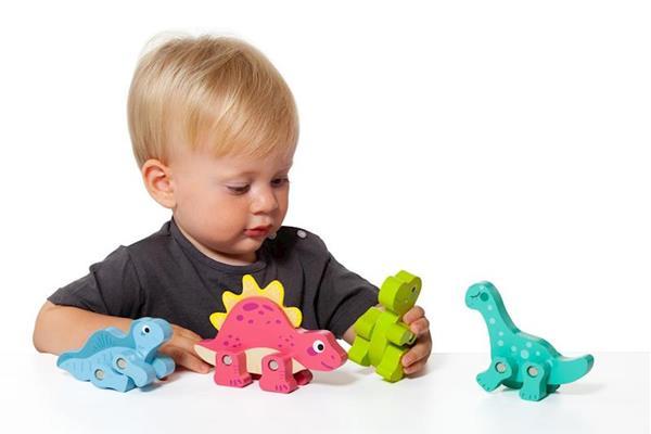 Imagen de Figuras Dinosaurios Madera Set 4 Piezas