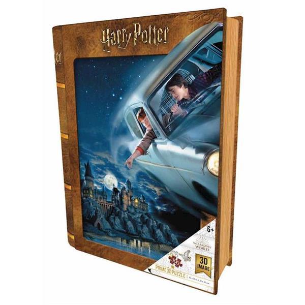 Imagen de Puzzle 3D Harry Potter Coche Volador en Libro