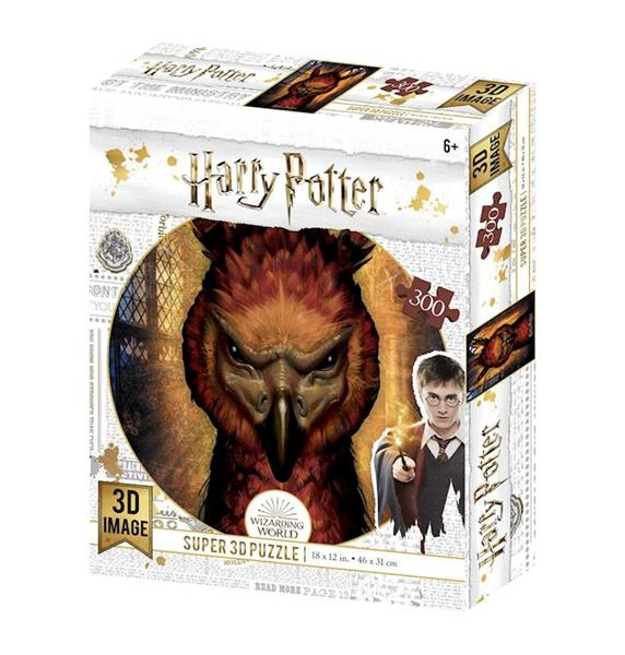 Imagen de Puzzle Lenticular Harry Potter Fénix Fawkes