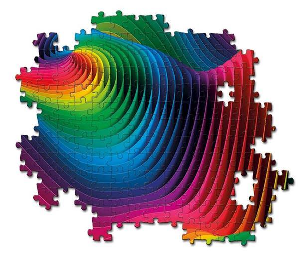 Imagen de Puzzle Adulto Olas Colores 1000 Piezas