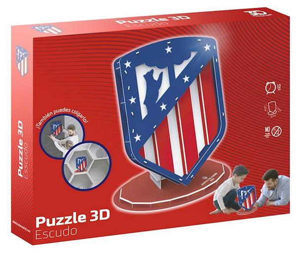 Imagen de Puzzle 3D Escudo Athlético de Madrid