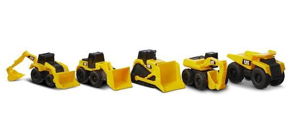 Imagen de Pack de 5 Máquinas CAT de Obras Públicas 8 cm