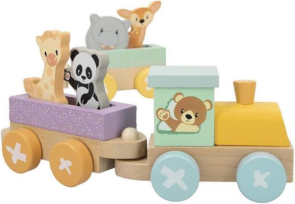 Imagen de tren animales de madera woomax