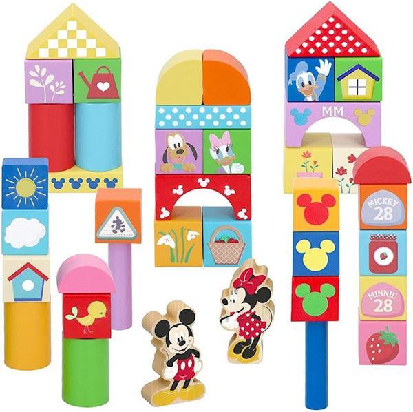 Imagen de Bote Bloques Madera Mickey & Minnie