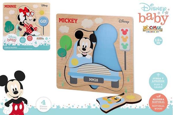Imagen de Puzzle Mickey o Minnie Madera