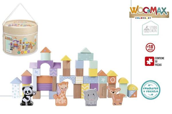 Imagen de Cubo Construcción Madera Animalitos