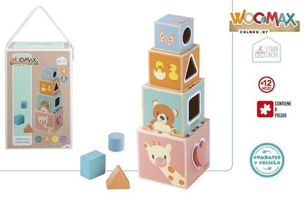 Imagen de Cubos Apilables Madera 8 Piezas