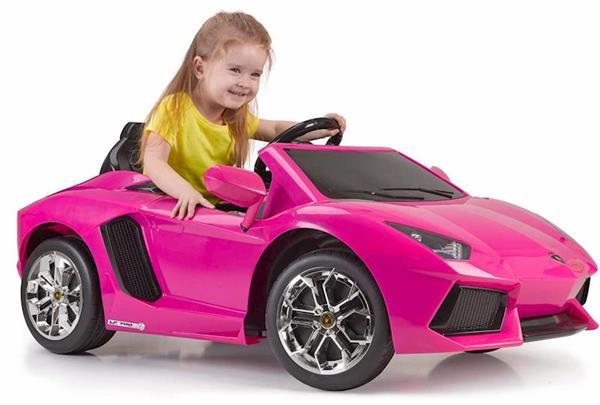 Imagen de Lamborghini De Batería Aventador Rosa