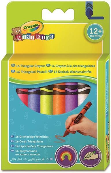 Imagen de 16 ceras triangulares crayola