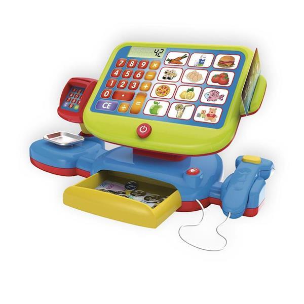 Imagen de caja registradora juguete con calculadora