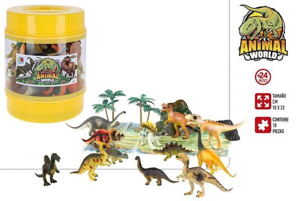 Imagen de Bote Dinosaurios Y Accesorios