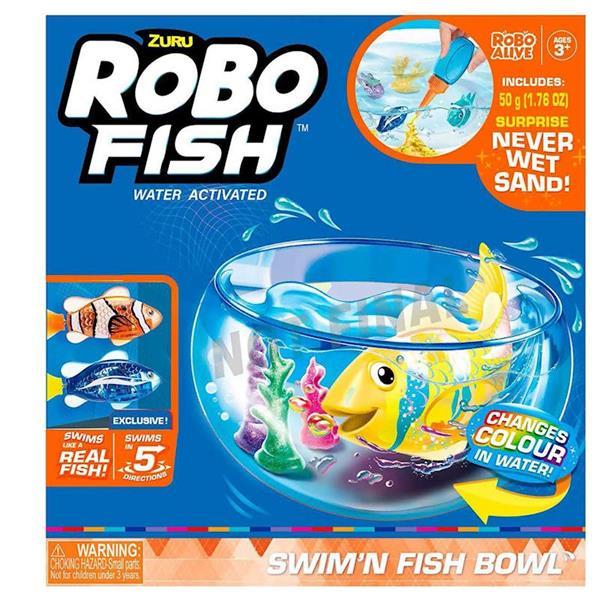 Imagen de Acuario Robo Fish Con Arena Mágica