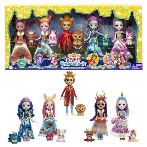 Imagen de Muñeca Enchantimals Royal Pack de 5 Figuras y Mascotas