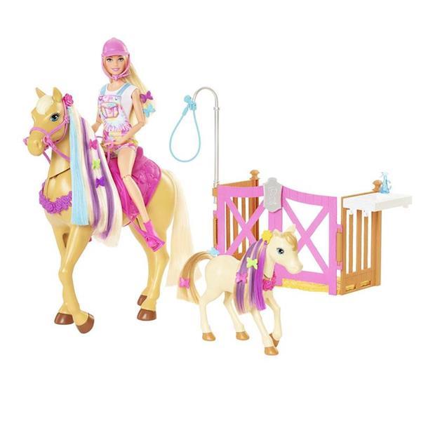 Imagen de Muñeca Barbie con Caballo y Poni