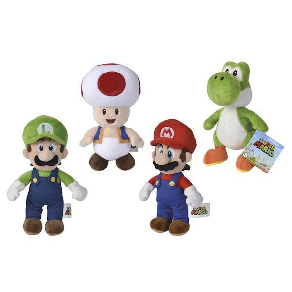 Imagen de Peluches Mario Bros Luigi Yoshi y Toad 20 Cm