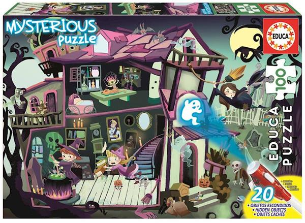 Imagen de misterious puzzle casa encantada 100 piezas