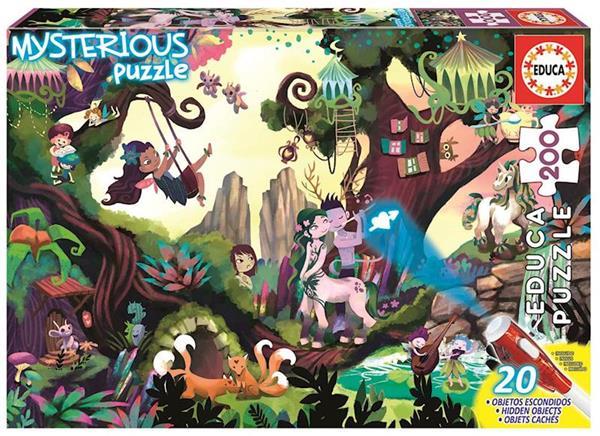 Imagen de puzzle misterious bosque encantado 200 piezas
