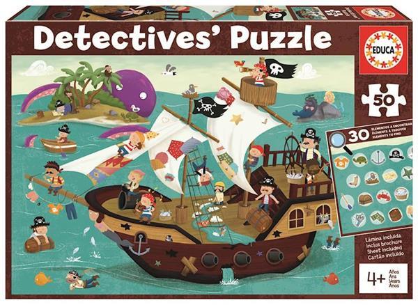 Imagen de puzle 50 piezas detectives pirata