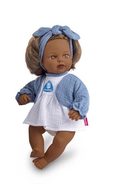 Imagen de Sany Baby Muñeca Antibacterias con Lazo Azul