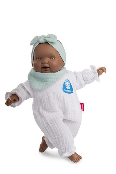 Imagen de Sany Baby Muñeca Bebé Antibacterias con Lazo Verde