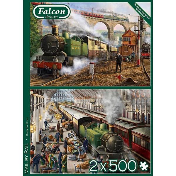 Imagen de Puzzle Falcon Tren 2x500 Piezas