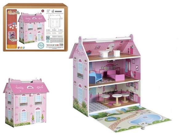 Imagen de casa de madera muñecas woomax