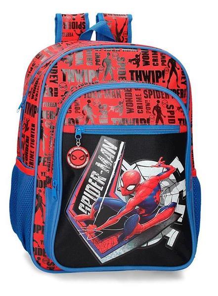 Imagen de Mochila Escolar Spiderman Adaptable 40 Cm