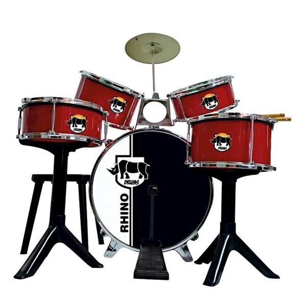 Imagen de Batería Juguete Rhino Drums Roja