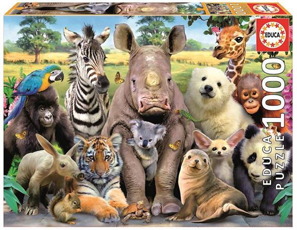 Imagen de Puzzle Foto Clase De Animales 1000 Piezas