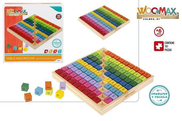 Imagen de Puzzle Multiplicar De Madera