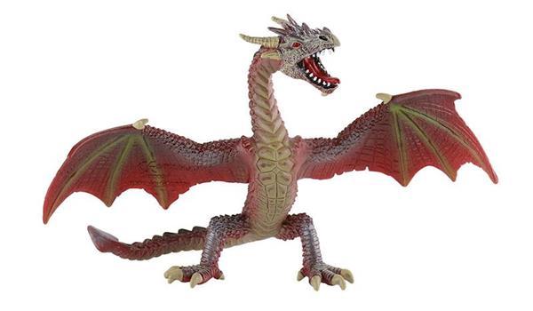 Imagen de Figura Dragon Alas Abiertas Rojo